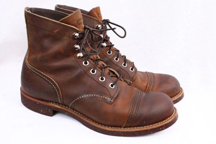 RED WING 8115 Iron Ranger Copper Brown Leather Heritage 6