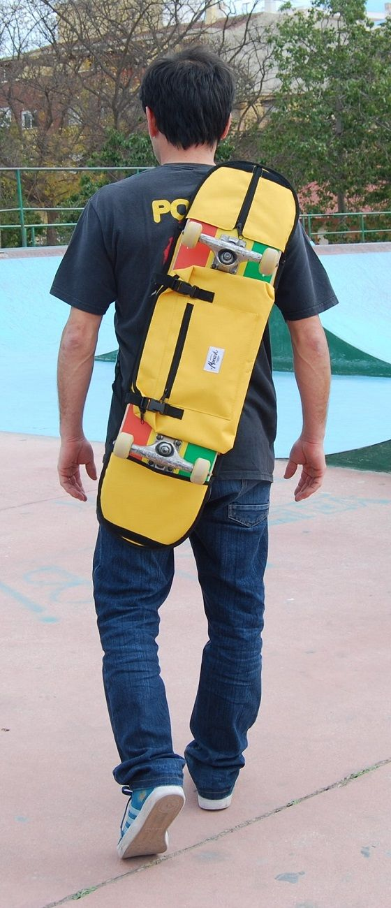 Skateboard bag in yellow for skaters - Great gift