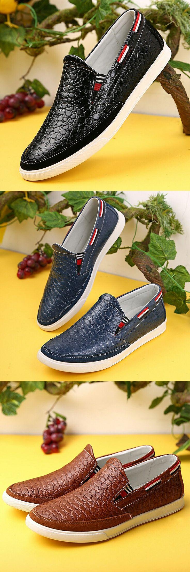 Prelesty Urban Crocodile Men Casual Boat Boat Gentleman Fashion Party Cool Leather   – Dapper Mens' Shoes