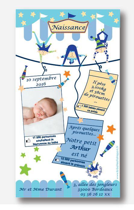 Faire part naissance garçon, thème : ACROBAT. Des petits acrobates vous annoncent la naissance de votre bébé.Plus d'informations en cliquant sur le lien suivant https://www.laboiteafairepart.fr/fairepart-naissance-garcon-acrobate/ #fairepartnaissancegarçon #fairepartgarçon #naissancegarçon le 04/02/17