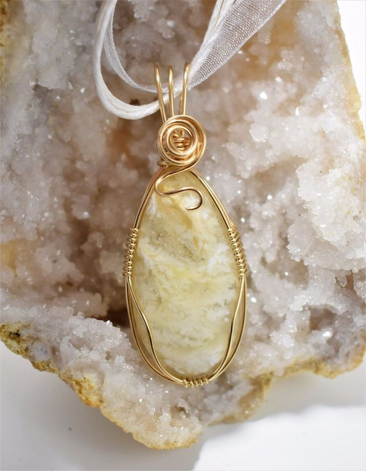 Stinking Water Plume Agate Pendant Wrapped in Gold Filled Wire | Jewelry & Watches, Handcrafted, Artisan Jewelry, Necklaces & Pendants | eBay!