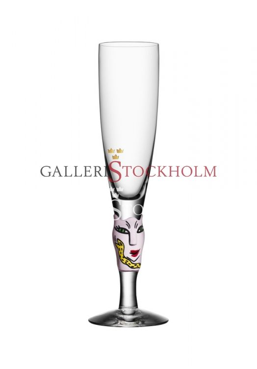 Ulrika Hydman-Vallien - Glaskonst - Open minds champagneglas vit Beställ här! Klicka på bilden.