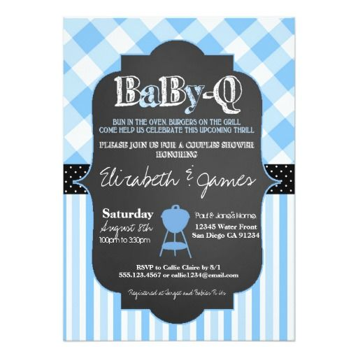 bbq couples baby boy shower invitation baby boy shower invitations