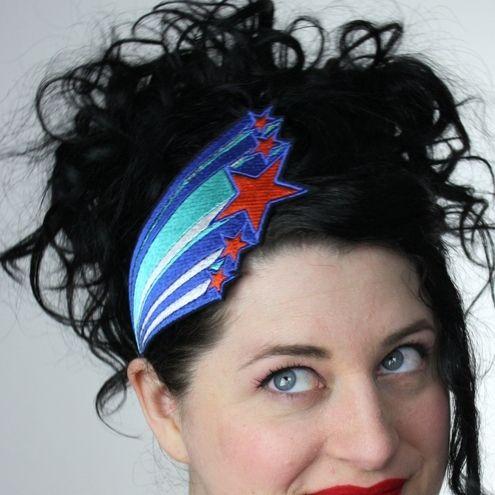 Retro stars headband to brighten up a soggy morningShooting Stars, Retro 1970S, Shoots Stars, Retro Stars, Headbands Retro, Basil Retro, Style Pinboard, 1970S Blue, Stars Headbands