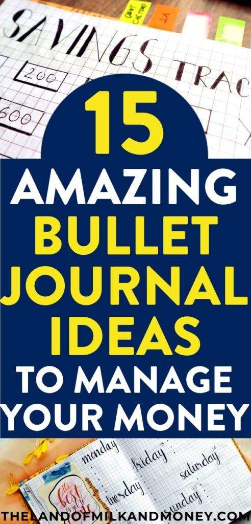 15 incredible bullet journal ideas to manage your money money