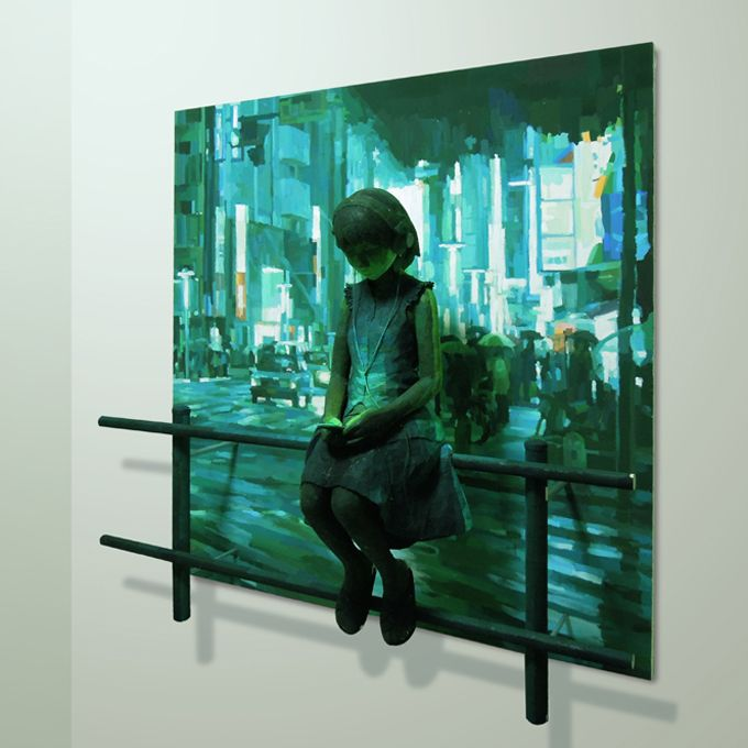 SHINTARO OHATA's painting and sculpture hybrids look like traditional paintings if the photo is cropped
