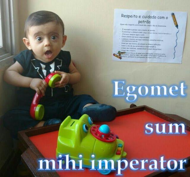 Egomet sum mihi imperator Sou meu próprio patrão : I am my own boss