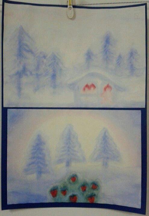 """Fiaba """"I tre omini nel bosco"""" dei fratelli Grimm - Acquarello"""