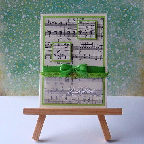 Zelené přání s notami