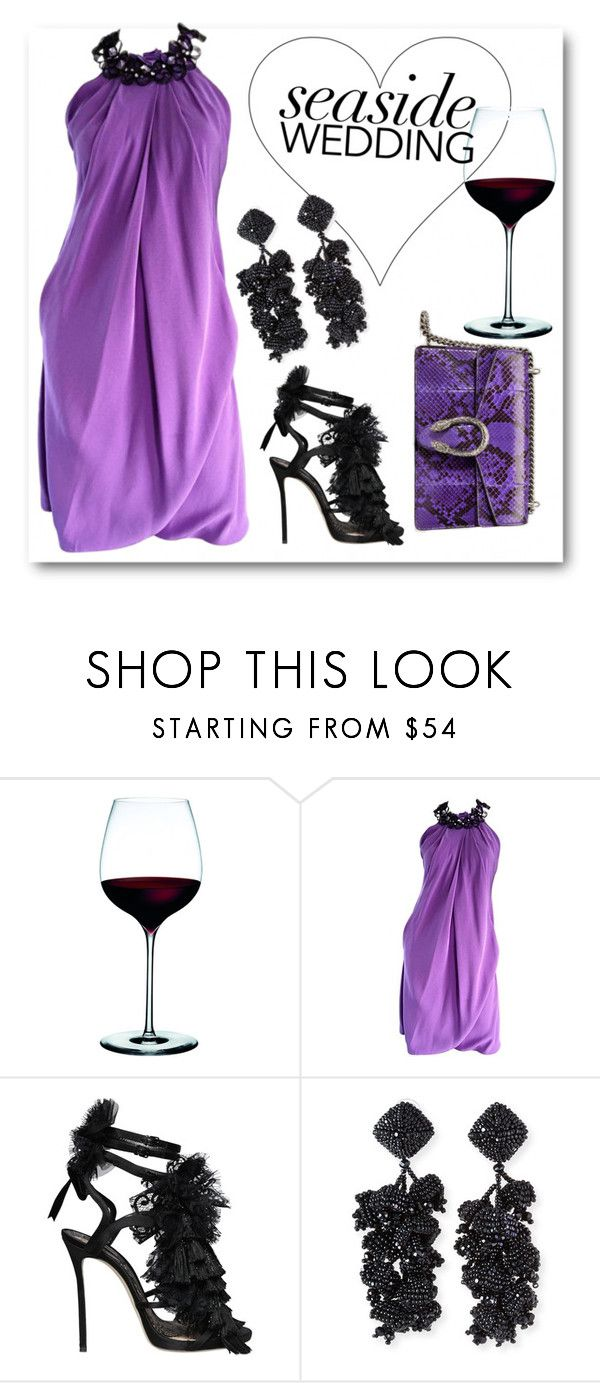 """""""Wedding guest"""" by emmmy88 ❤ liked on Polyvore featuring Pamella Roland, Dsquared2, NOIR Sachin + Babi and Gucci"""
