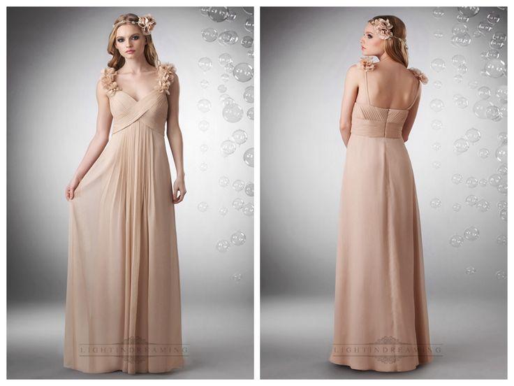 V-neck Criss Cross Shirrred Bodice with Flowered Straps Bridesmaid   Dresses  #wedding #dresses #dress #lightindream #lightindreaming #wed #clothing   #gown #weddingdresses #dressesonline #dressonline #bride  http://www.ckdress.com/vneck-criss-cross-shirrred-bodice-with-  flowered-straps-bridesmaid-dresses-p-384.html