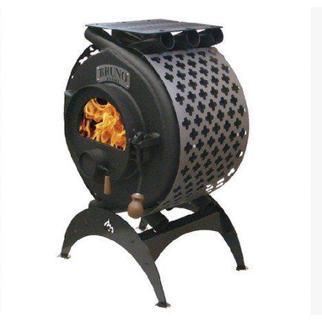 Poêle à bois BRUNO mini arcade anthracite, 6.5 kW