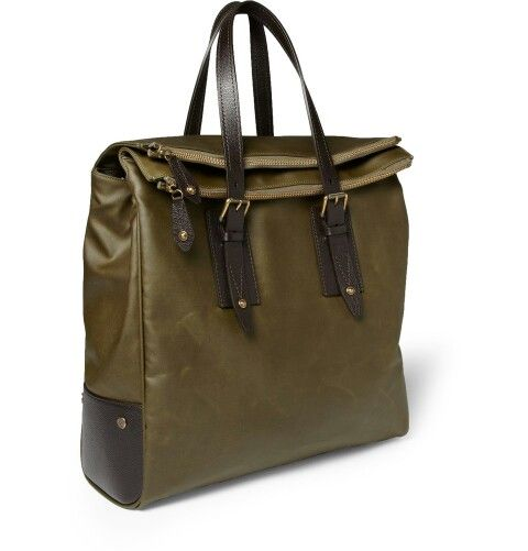 Belstaff waxed-cotton tote