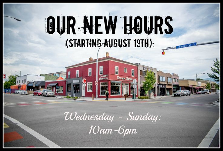 Excited for our new hours starting next Friday!