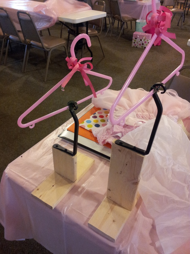 889e3dd3e These are the home made stands for the baby dress centerpieces ...