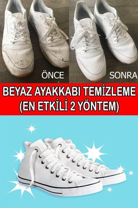 Beyaz Spor Ayakkabı Temizliği (Diş Macunu ve Karbonat Yöntemi)