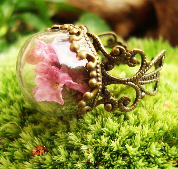 zarter Elfenring mit echten Blüten...