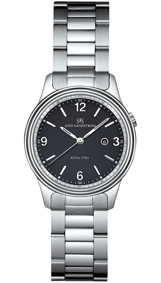 Royal Steel Classic 32 mm, black dial with steel bracelet. #sjoosandstrom #sjöösandström #watch #watches #classic #ladies #woman