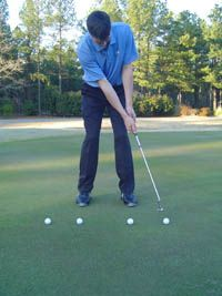 This is a simple Golf Putting Tip to learn how to control the distance of your putts. You can practice this drill anywhere, even in your office!