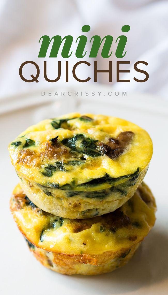 Mix up your breakfast routine with some savoury mushroom-packed Crustless Mini Quiches {Via @crissy}