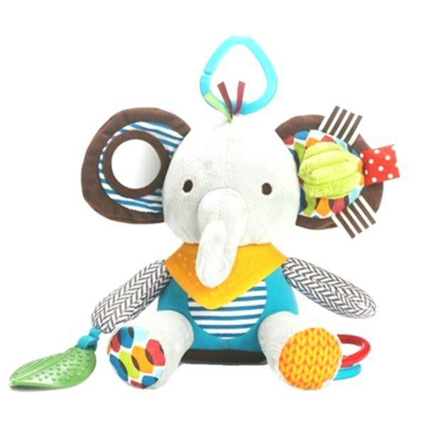 Newborn Baby Plush Animal Toy Rattle for Crib or Stroller