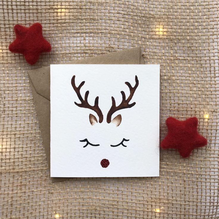 Открытки, открытка с оленем своими руками видео
