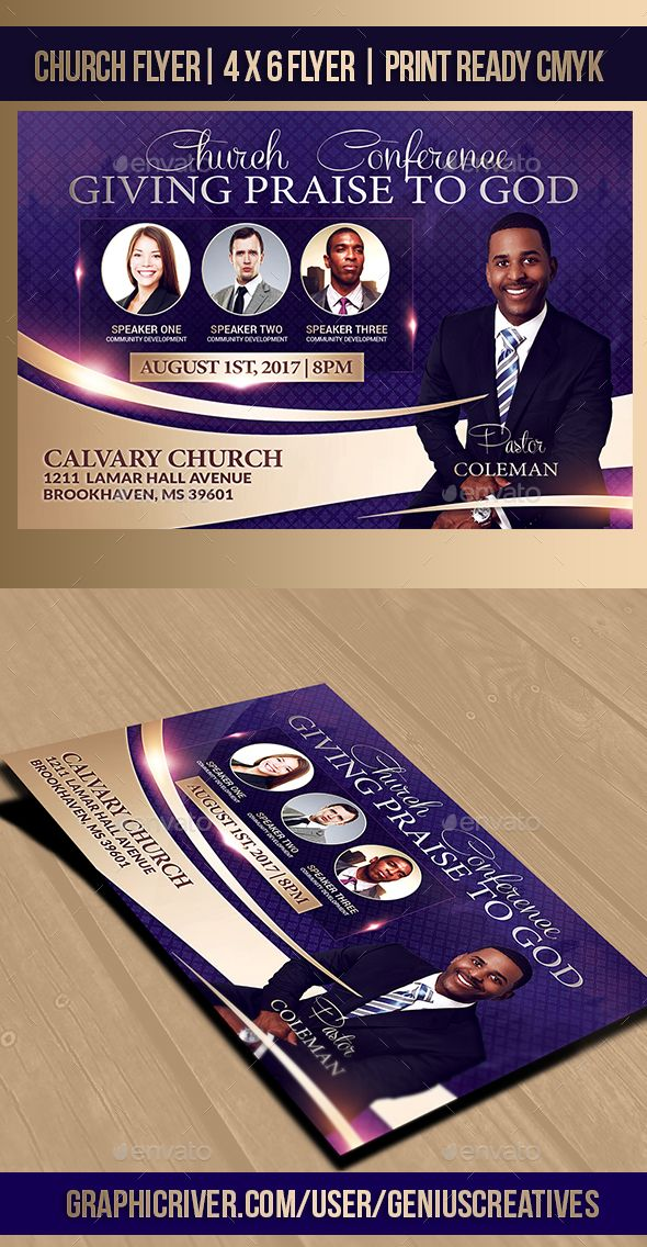 32 Best Church Flyer Templates Images On Pinterest Conference