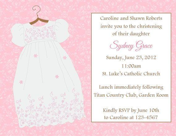 Baptism/Christening Invitation - Printable