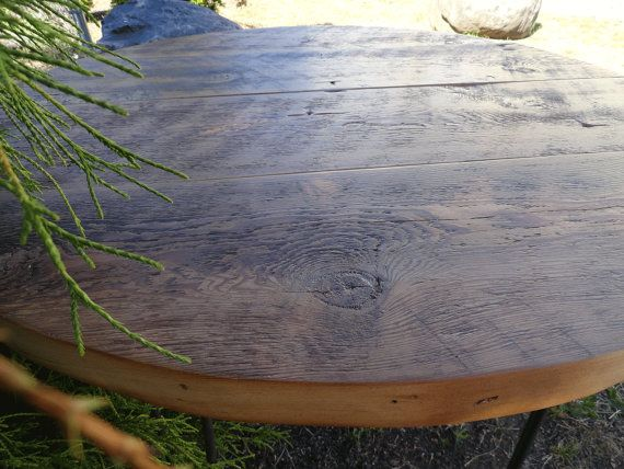 SALE! 20% Off, Ships in 1 Day!  Antique Barnwood - Round Dining Table, 48 inches, 5-6 person