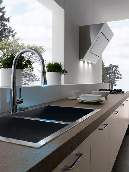 Contemporary Kitchens Without Upper Cabinets by Treo