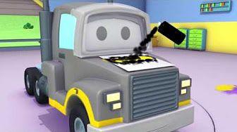 Turma da Construção: caminhão basculante, guindaste e máquina escavadora em O Trampolim - YouTube