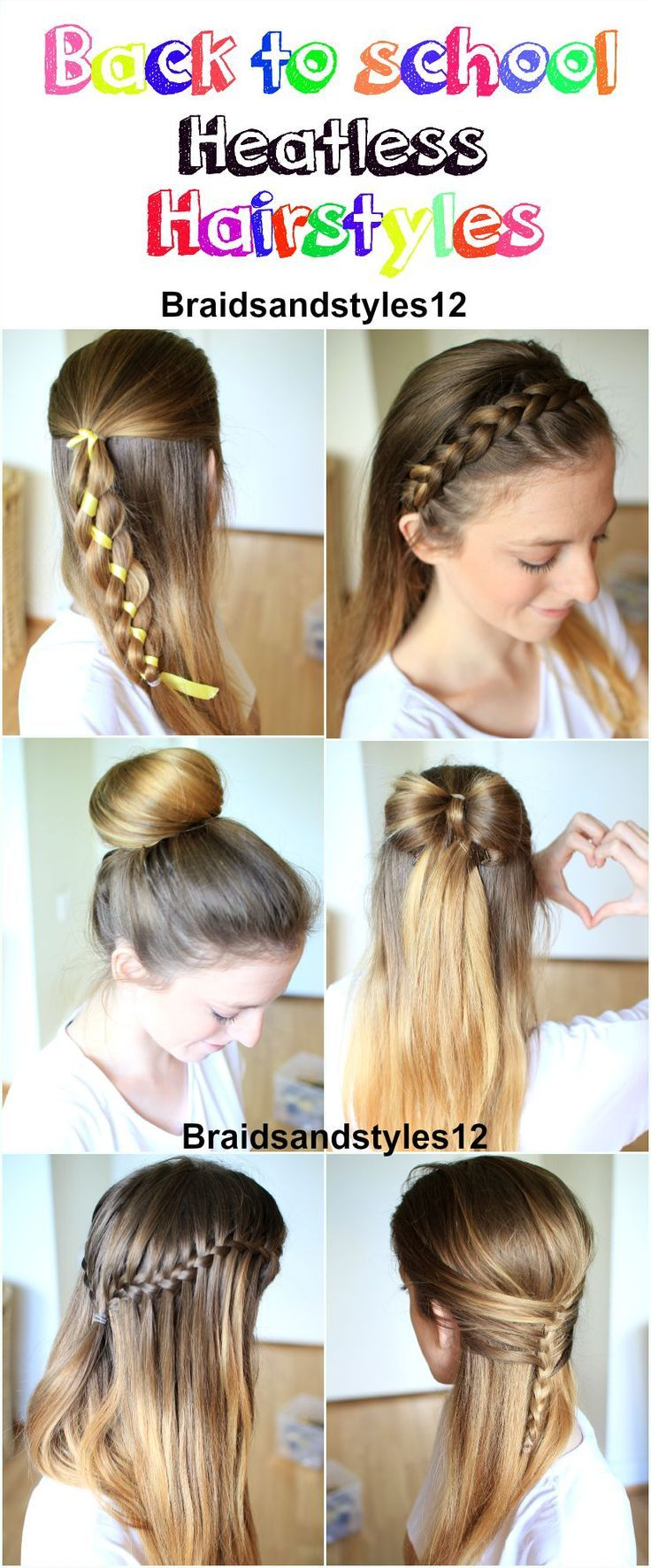 Braidsandstyles12 Heatless hairstyles, Hair lengths