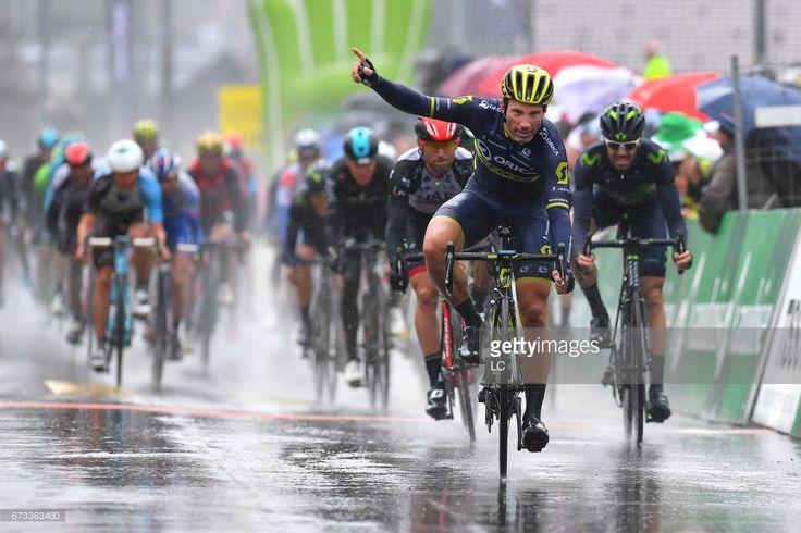 #TDR2017 71st Tour de Romandie 2017 / Stage 1 Arrival / Michael ALBASINI (SUI) Celebration / Aigle - Champery- Bulle 782m (173,3Km) /