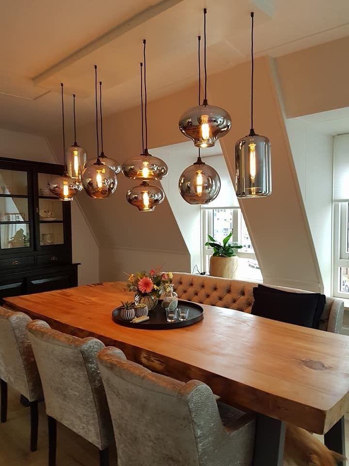 Newest Led Filament Technology Tubular Light Bulb Dining Table