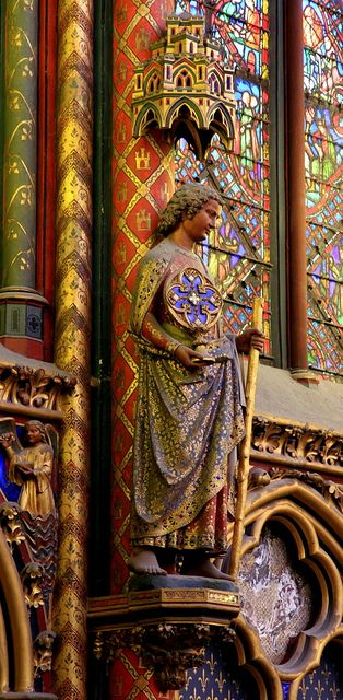 Sainte-Chapelle, a royal medieval Gothic chapel, located near the Palais de la Cité