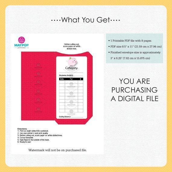 Cash Envelopes Printable | Cash Envelope System | …
