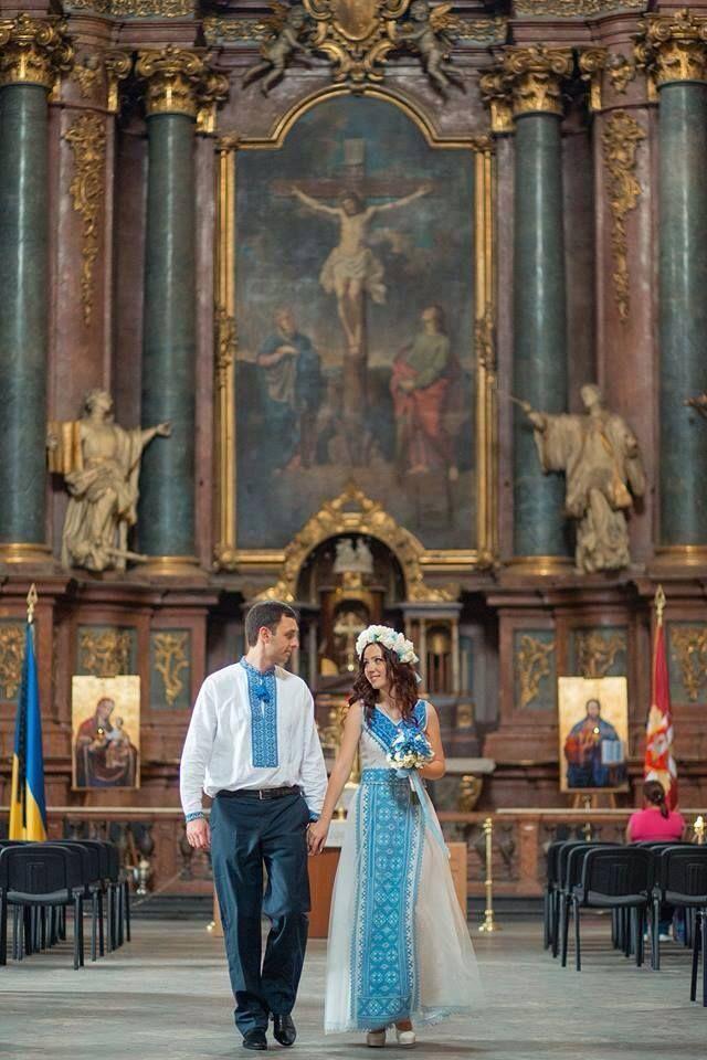 Парад Вишиванок · 28 липня · Ukrainian wedding. Peter and Paul church. Lviv, Ukraine.