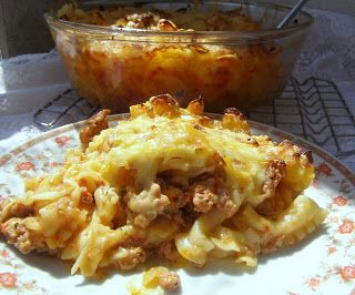 W Mojej Kuchni Lubię.. : zapiekany makaron z mięsem i serem...