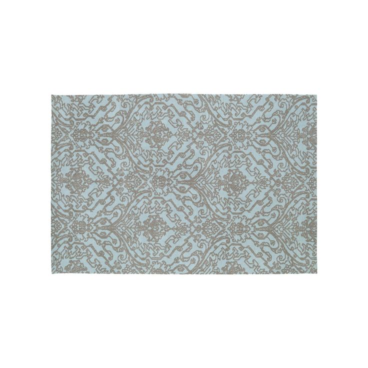 Kaleen Cozy Toes Serenity Damask Rug, Blue, Durable