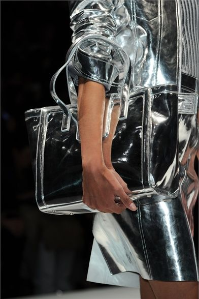 Silver Metallic Outfit w/ Bag - Milano AW 12                                                                                                                                                                                 More