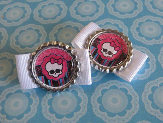Monster High Pair Hair Clip on Etsy, $1.50