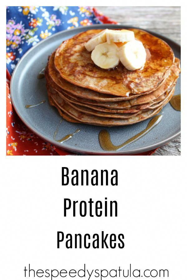 Banana Protein #pancakes are filling and delicious for the entire family!   #the…