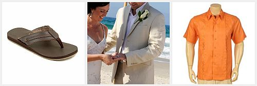 men beach wedding attire