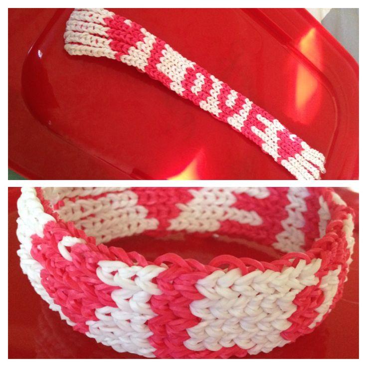 """""""Love"""" Rainbow Loom bracelet"""