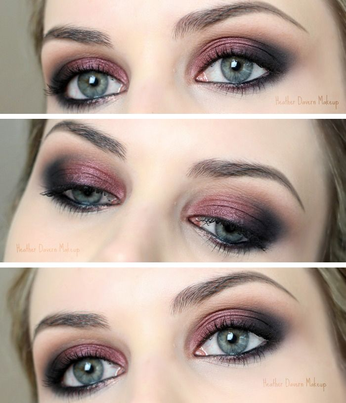Kristen Stewart Cranberry Smoky Eye Tutorial -- step by step by HEATHER DAVERN MAKEUP