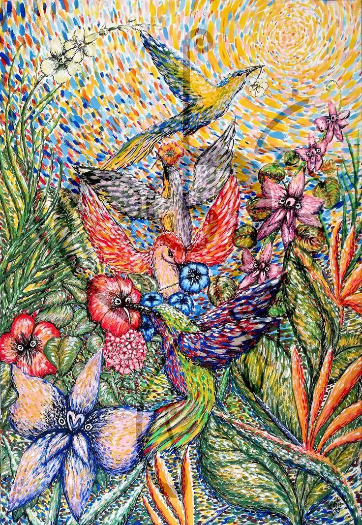 The Secret Garden - 2017 - acrylic on canvas - 50x70cm
