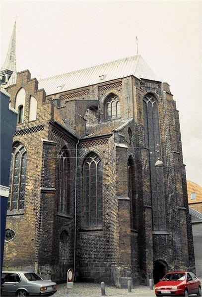 Haderslev domkirke set fra øst