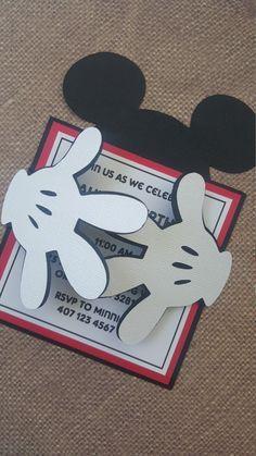24 x invitaciones de Mickey Mouse por MyPrettyLittleParty en Etsy
