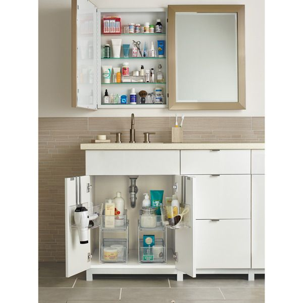 silver 2 drawer mesh organizer 2