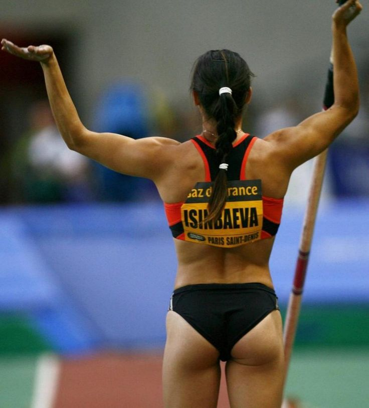 Pole vaulter Yelena Isinbayeva is a three-time Olympic medalist—she won gold in Athens 2004 and Beijing 2008 and took bronze at the 2012 Olympics in London. Recently she's attracted a lot of attention for defending Russian's ridiculous anti-gay laws. Isinbayeva just won her third world title and still holds the world record.
